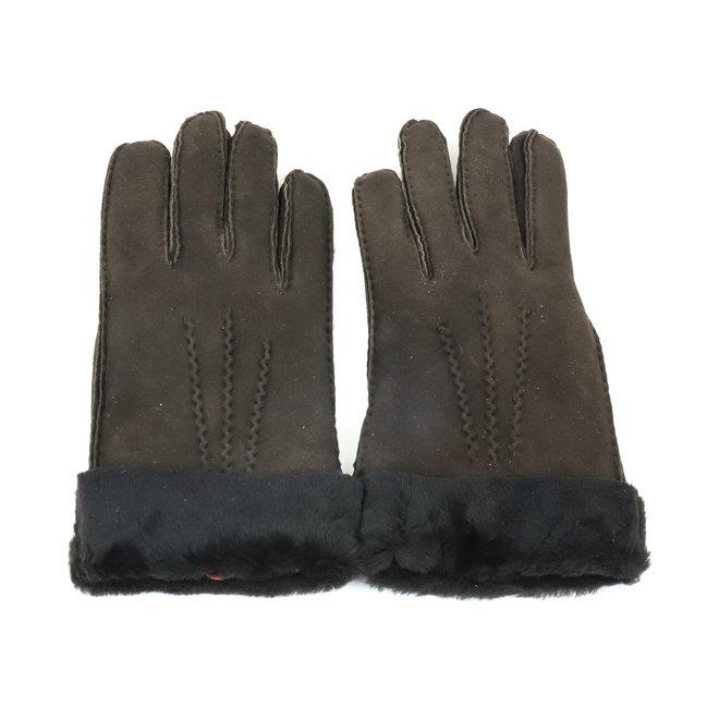 Dames leren Handschoen Ilvy - Donker bruin