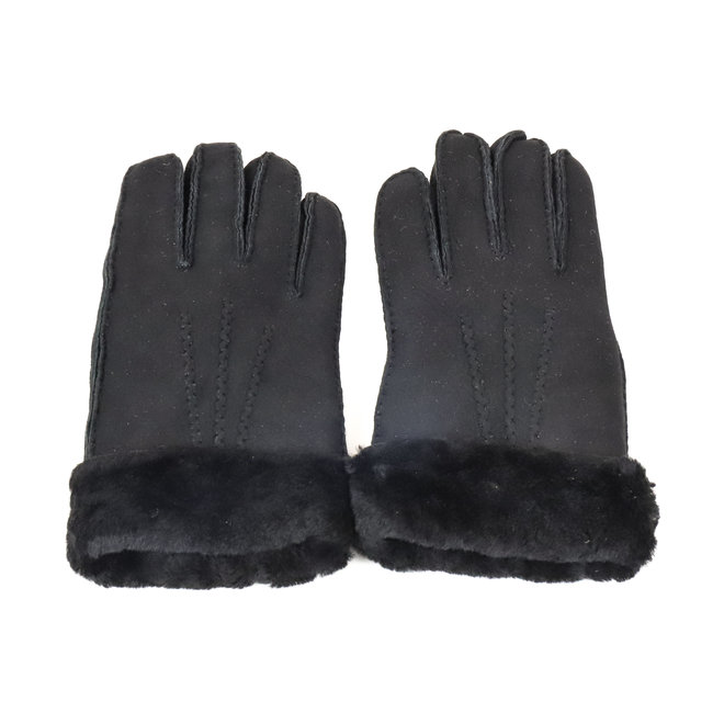 Dames leren Handschoen Ilvy - Zwart