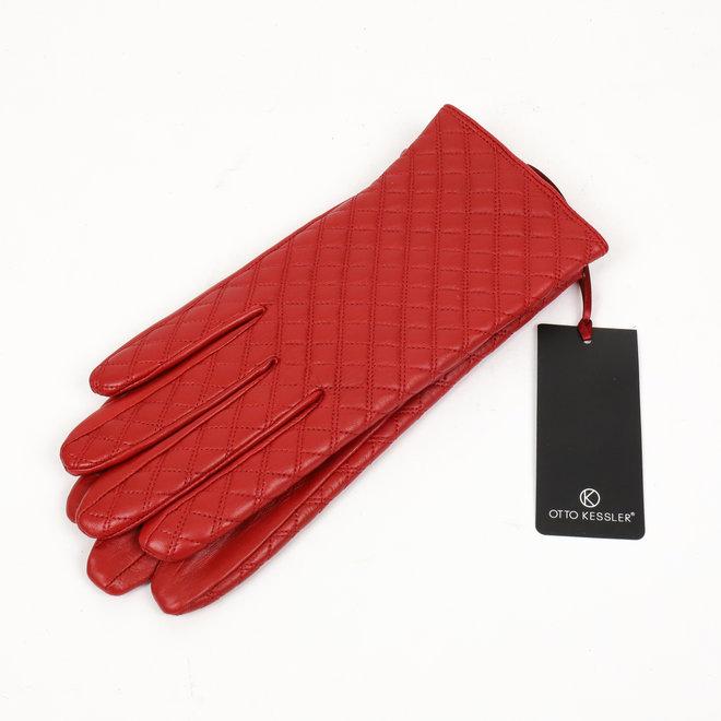 Dames leren handschoen Ella - Rood