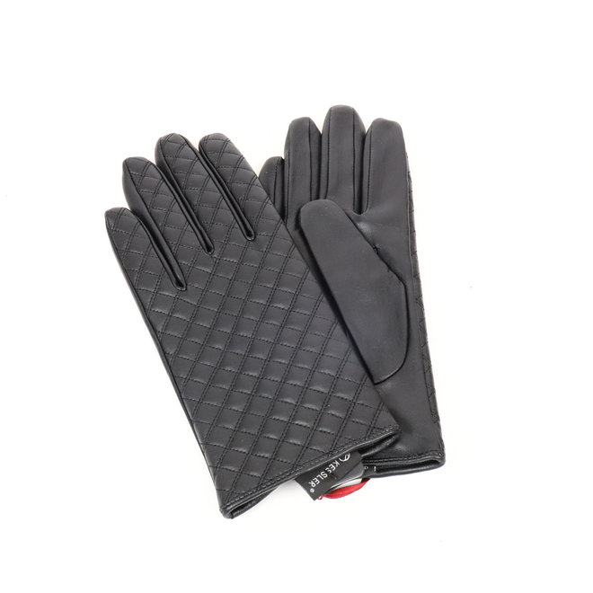Dames leren handschoen Ella - Zwart