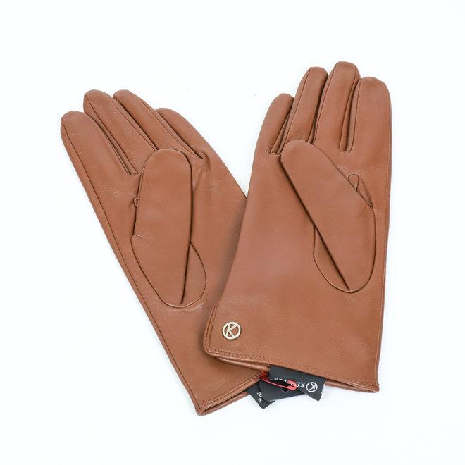 Dames leren handschoen Carla - Bruin
