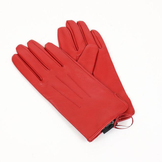 Dames leren handschoen Carla - Rood