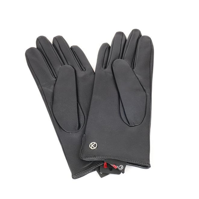 Dames leren handschoen Carla - Zwart