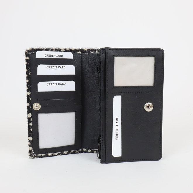 Overslag portemonnee - Cow HH10369 White dot