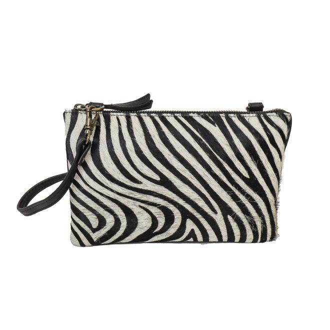Portemonnee tasje XL 'Uma' - Zebra