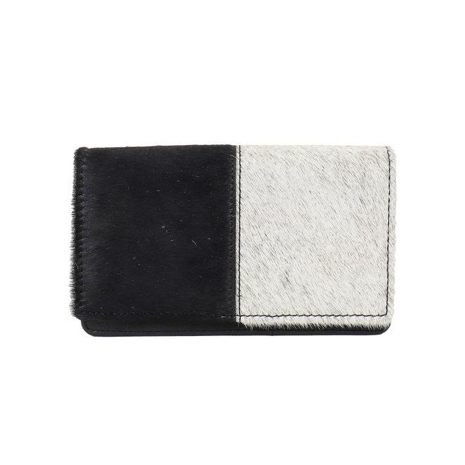 Overslag portemonnee - Cow HH10369 Half black/Half white