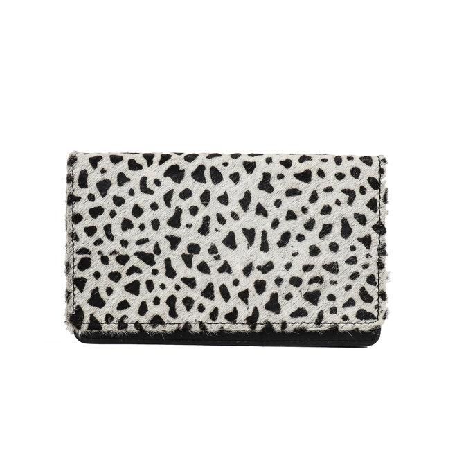 Overslag portemonnee - Cow HH10369 Black dot