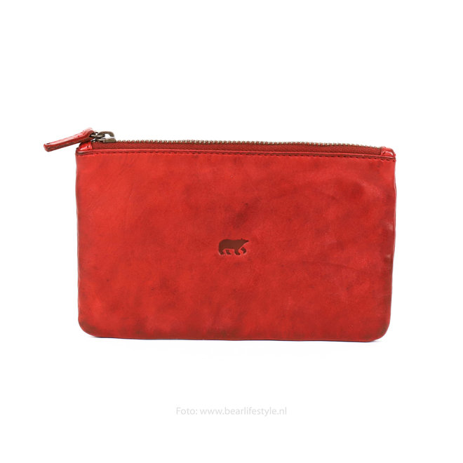 Bear Design Etui - CL13130 Rood