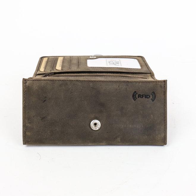 Dames portemonnee HD 9918 Donkerbruin - RFID Bescherming