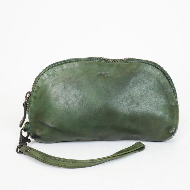 Leder etui - CL 14659 Olijf groen