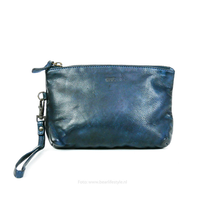 Leder etui - CL 12510 Blauw