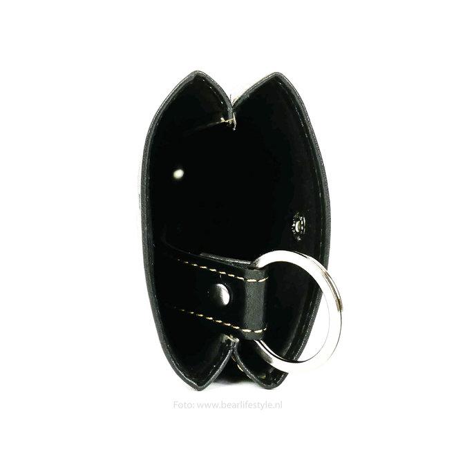 Sleutel etui klok sleutelhanger RO7791 - Zwart