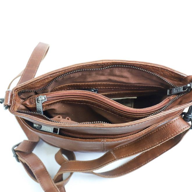 Schulter- / Handtasche 'Ashley' - Cognac CP1867