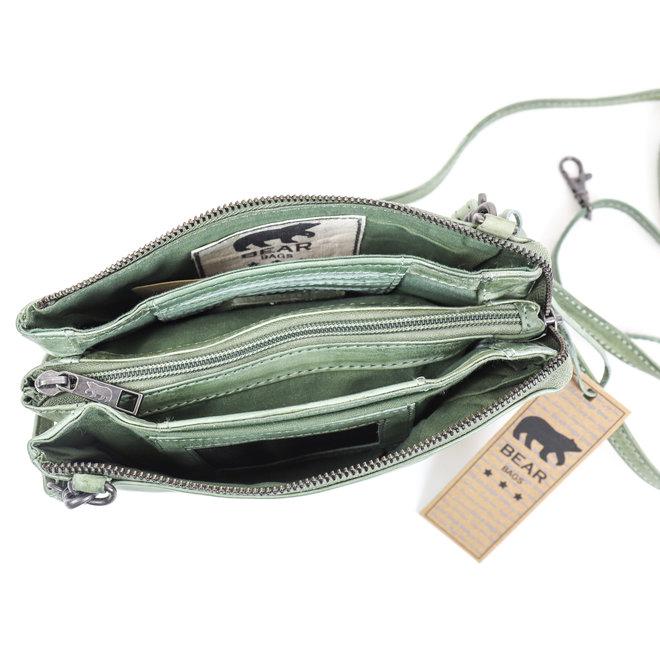 Portemonnee tasje  'Uma' - Vintage Mint CP30996