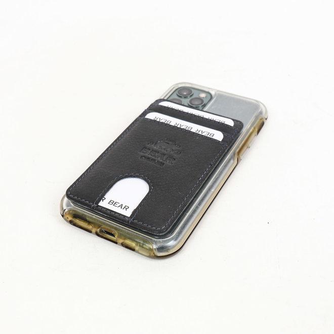 Bear Design Telefoon portemonnee plak hoesje Blauw