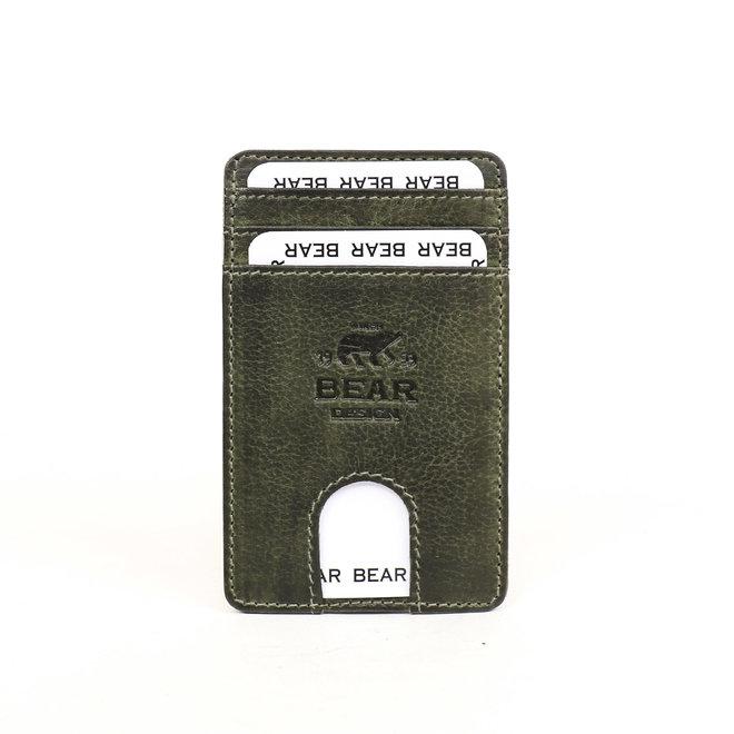Telefoon portemonnee - plak hoesje Groen