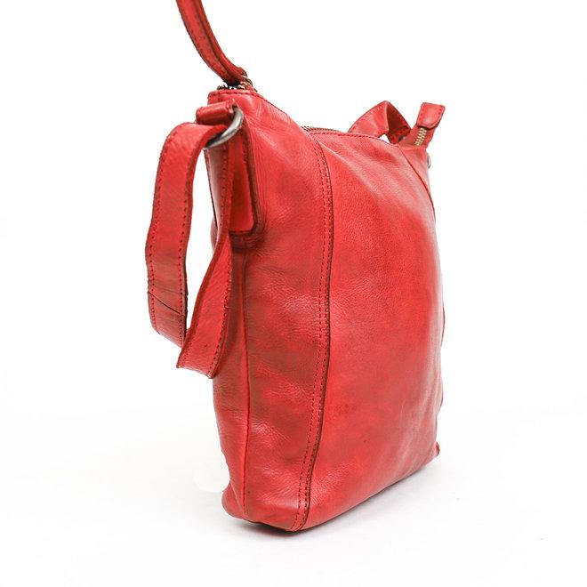 Klein schoudertasje 'Veerle' CL 40479 Rood