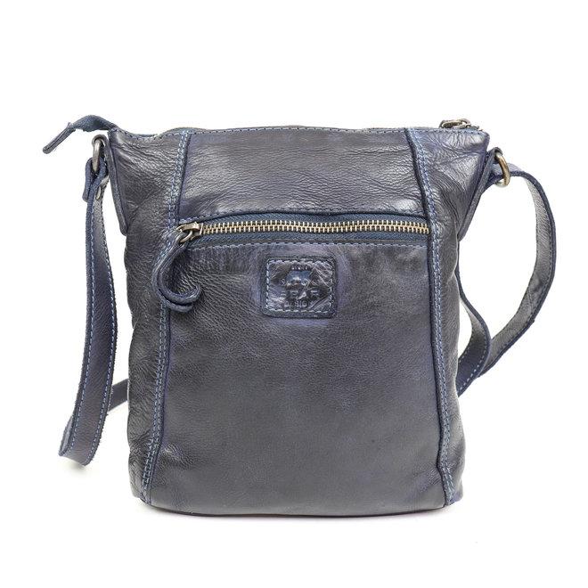 Klein schoudertasje 'Veerle' CL 40479 Blauw
