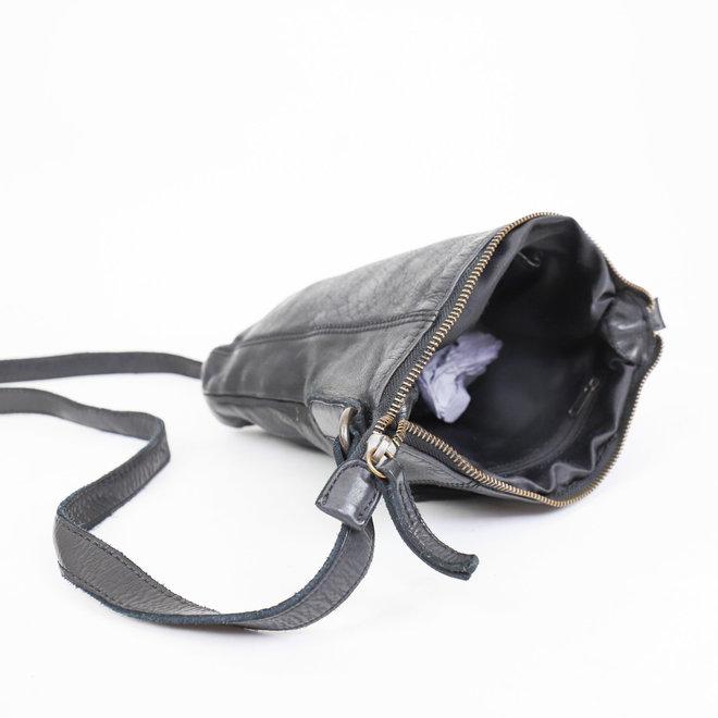 Klein schoudertasje 'Veerle' CL 40479 Zwart