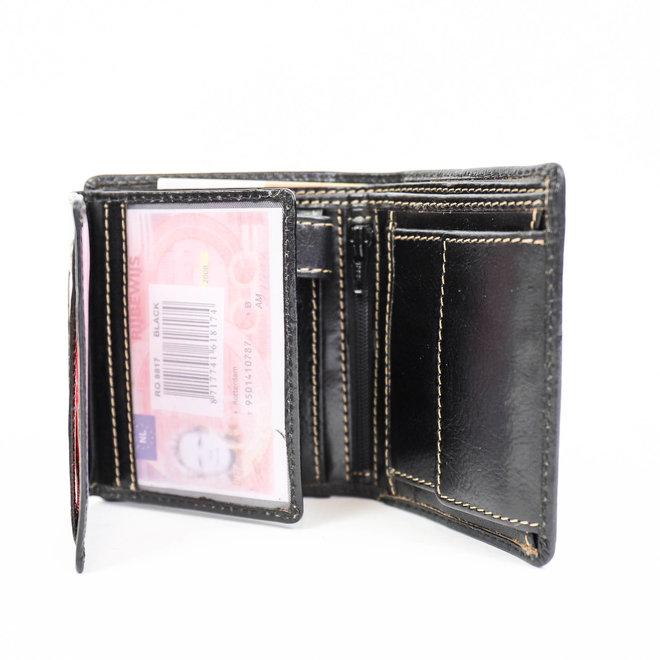 Kleine hohe Brieftasche RO 8817 Schwarz
