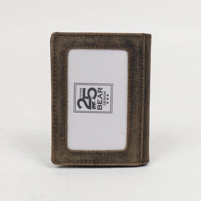Filterdun pasjesmapje HD14417 met briefgeldvak Bruin