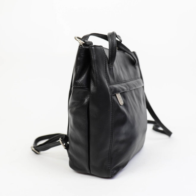 Rugzak/Schoudertas 'Sandy' - Zwart B6029