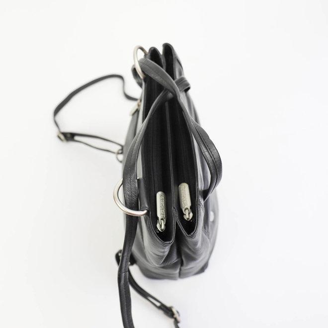 Schultertasche/Rucksack Sandy B6029 Schwarz