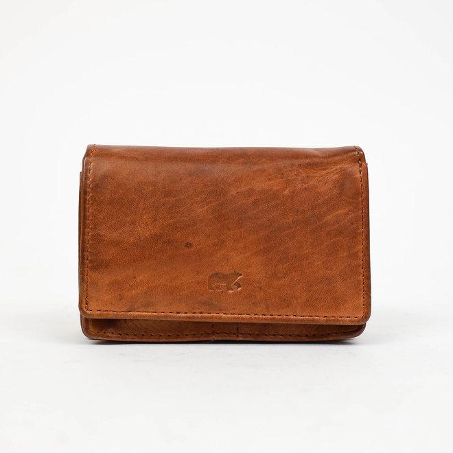 Kleine overslag portemonnee 'Nina' CL 16212 Cognac