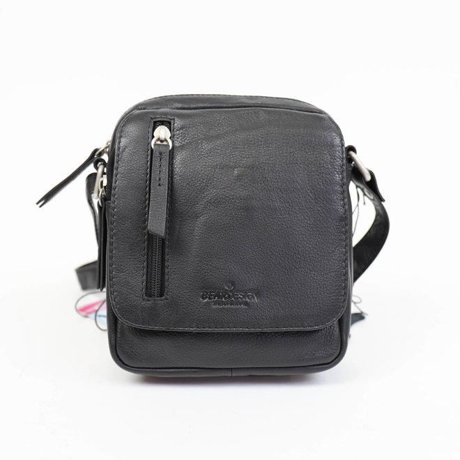 Klein schoudertasje B 5244 Zwart