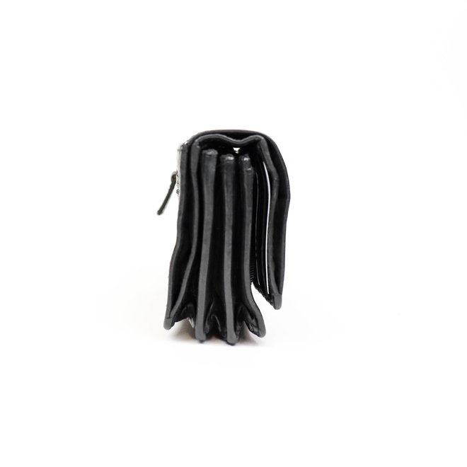 Kleine overslagportemonnee 'Nina' - CL 16212 Zwart