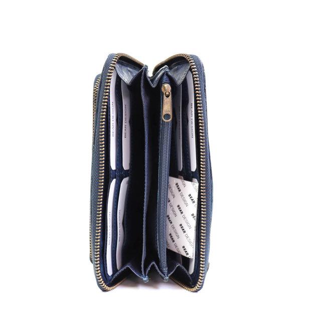 Reißverschlusstasche groß - Dunkelblau CL14851