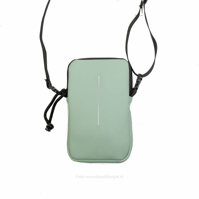 Waterafstotende 'Mart' Phonepocket - Mint blue