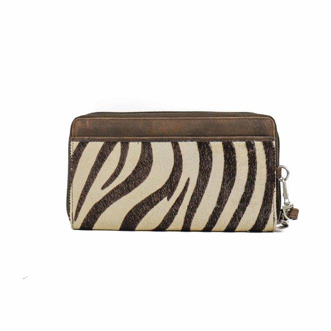 Ritsportemonnee/Clutch Zebra HH9165