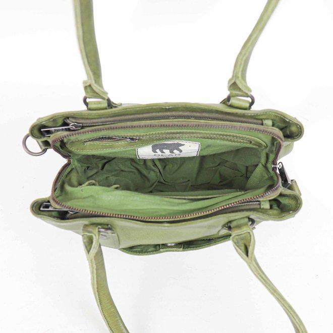 Klein Hand-/Schoudertasje 'Rita' 2 - Groen CP1201