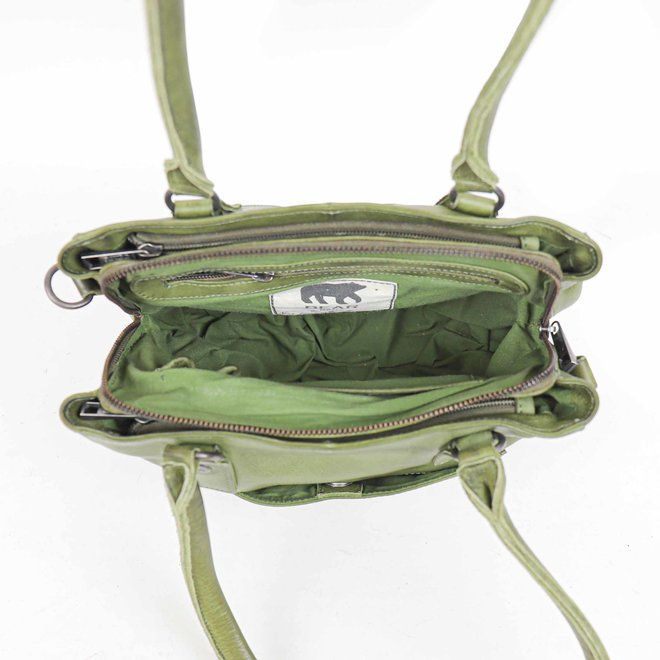 Klein Hand-/Schoudertasje 'Rita' - Groen CP1201