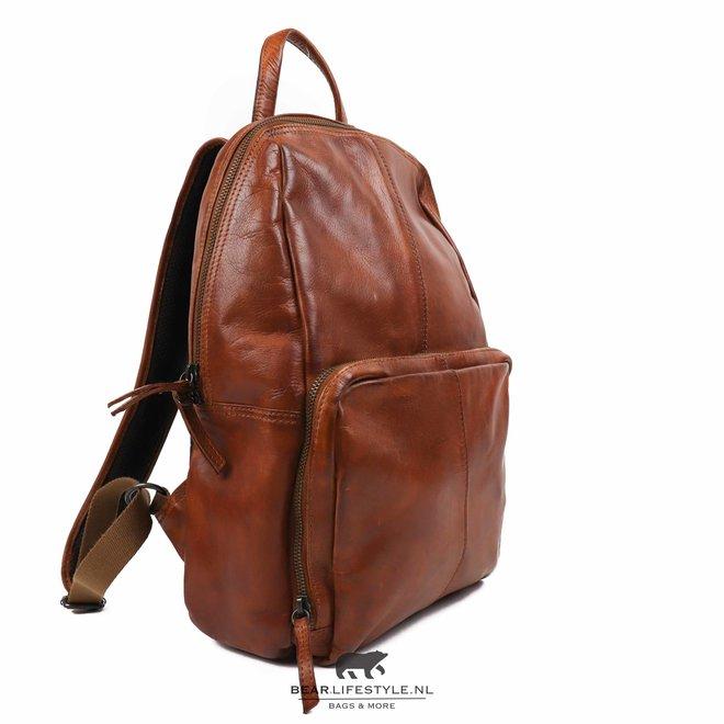 Laptop rugzak 'Daan' - Cognac CL 40945