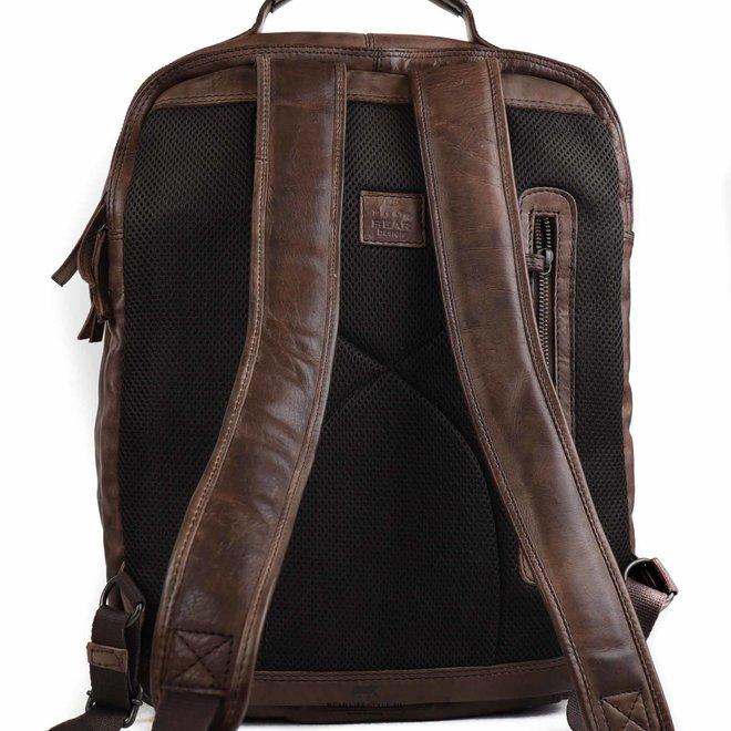 Laptop rugzak 17 inch 'Ties' - Bruin CL 40848