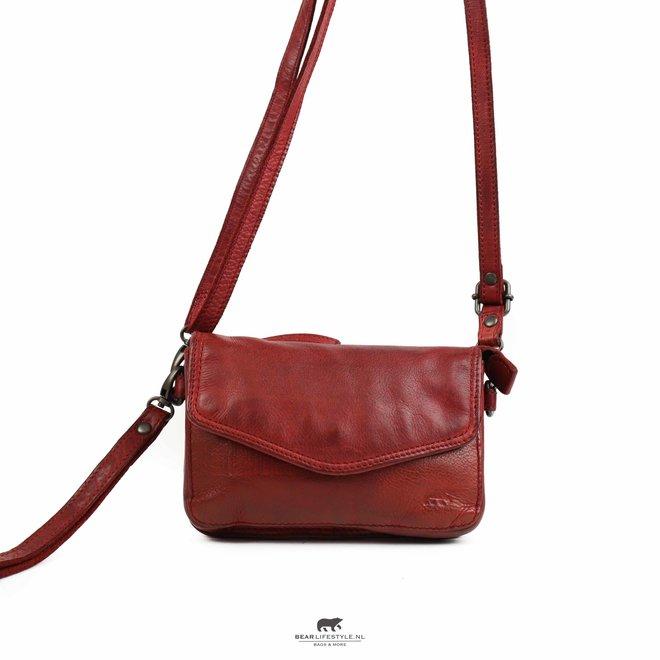 Enveloptasje 'Merel' - Rood CL 41050