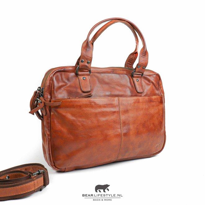 Laptoptas 14 inch 'Teun' - Cognac CL 41022