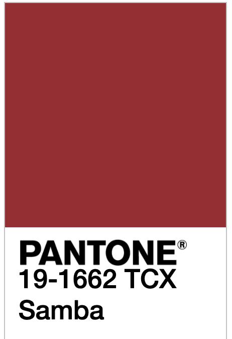 Pantone 19-1662 TCX Samba