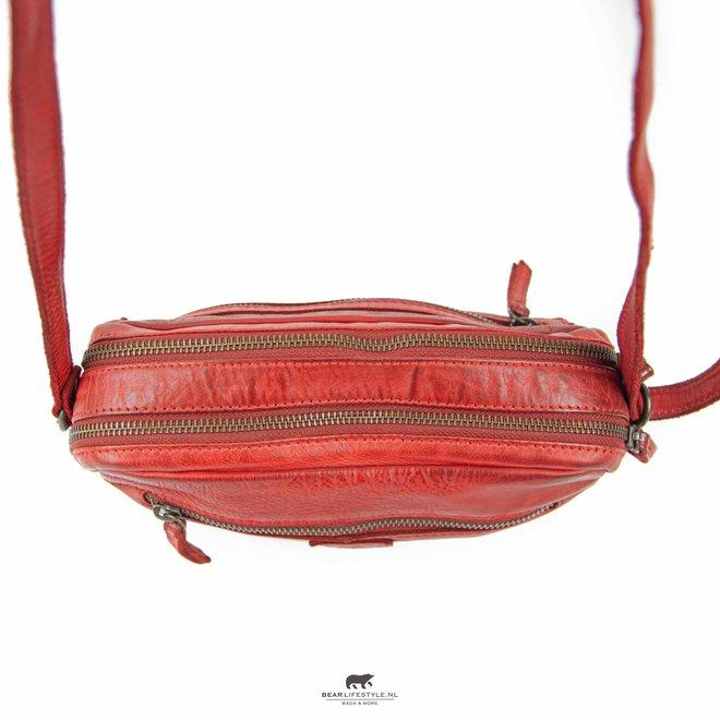 Kleine Reißverschlusstasche 'Niene' CL 36695 Rood