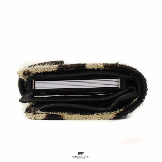 Kleine portemonnee Anti Skim - Cow HH 11034