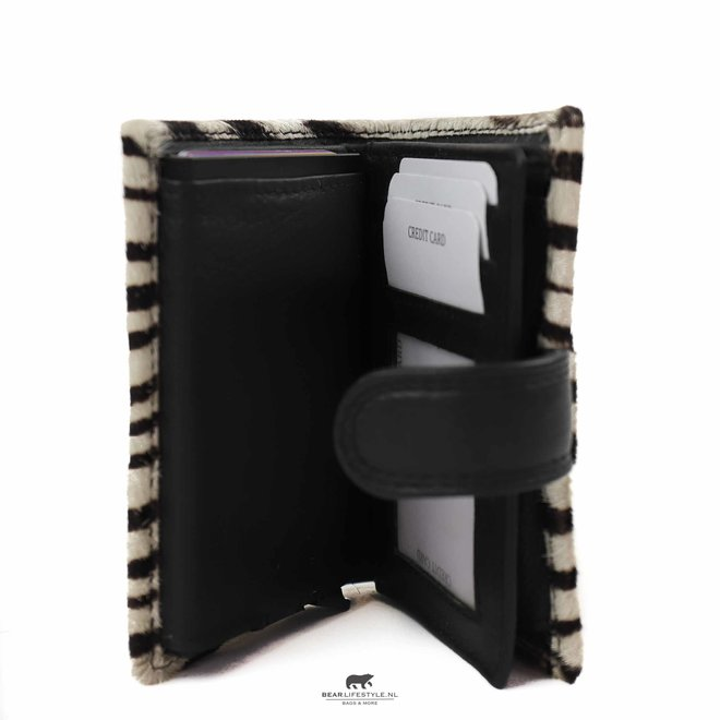 Kleine portemonnee Anti Skim - Zebra HH 11034