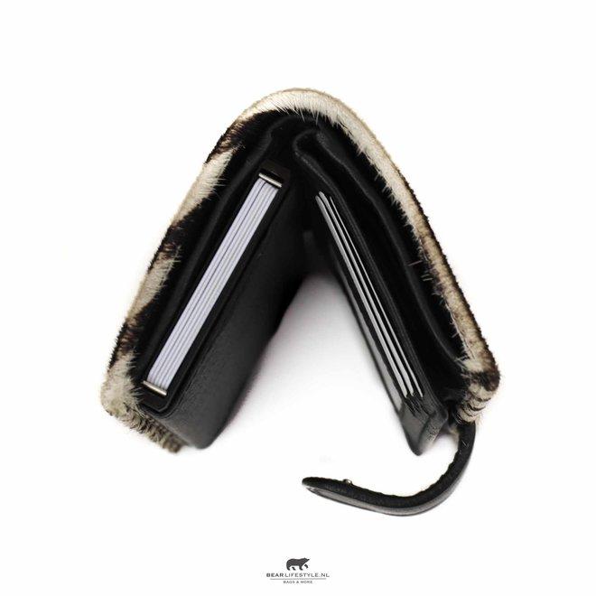 Kleine portemonnee Anti Skim - White Dot HH 11034
