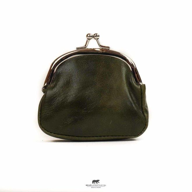 Dames portemonnee met knip - Klein Olijf DS 2071
