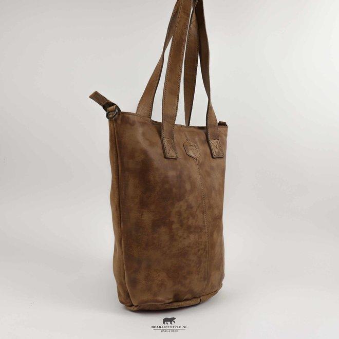 Shopper met schouderband 'Juul' - Taupe CP2087 *Vlekken