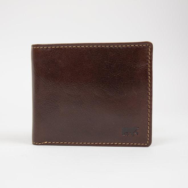Billfold klein - RO 8754 Bruin laag