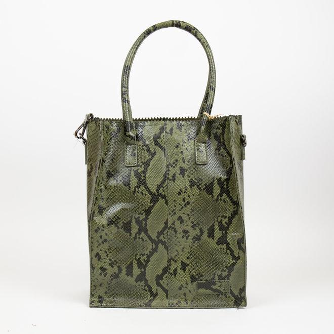 Shopper - Snake Groen (Hoog)