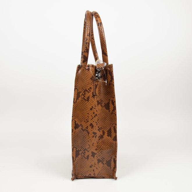 Shopper - Snake bruin (Hoog)