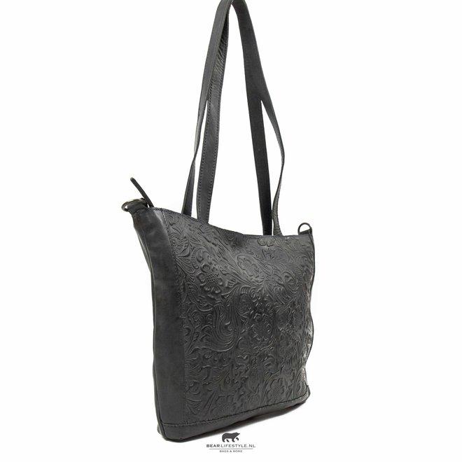 Shopper 'Flora' Grijs/Blauw CP 2029
